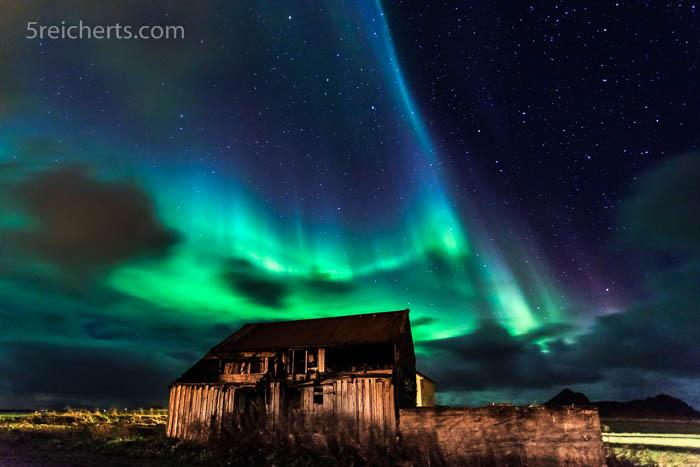 Nordlicht in Bø, Vesterålen