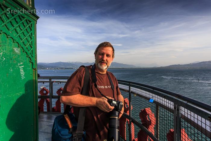 Gunter auf dem Lindauer Leuchtturm