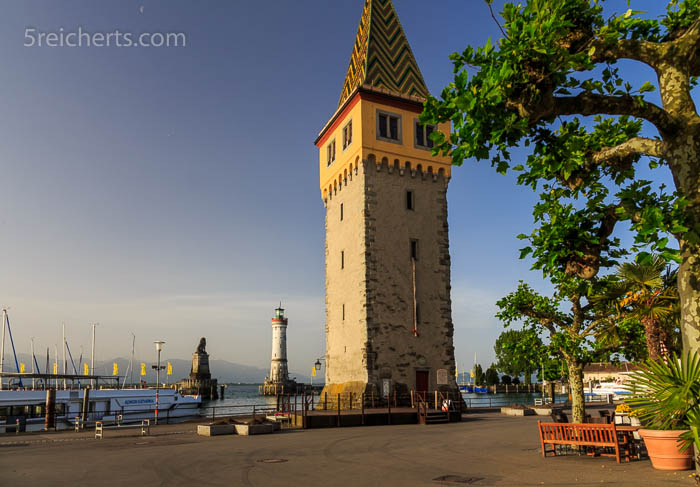 Der Mangenturm ist der ehemalige Leuchtturm Lindaus