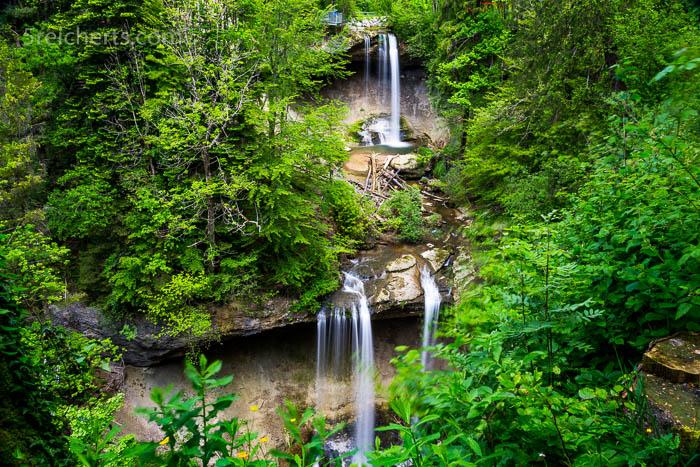 Übersicht über die beiden großen Wasserfälle
