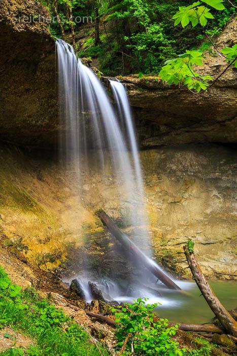 der untere Wasserfall