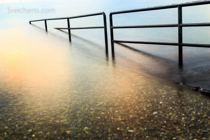 Das klare Wasser des Bodensees