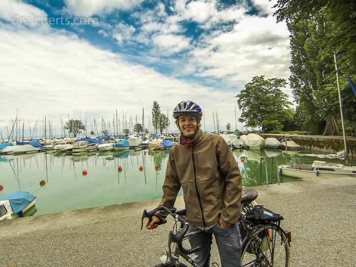 Esra Im Hafen von Romanshorn, Schweiz