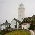 Start Point, Leuchtturm im Nebel, England
