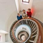 unsere drei Kinder im Leuchtturm