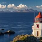 Litløy Fyr, die kleine Leuchtturminsel, Vesterålen, Norwegen