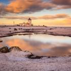 Eshaness Leuchturm, Shetland Inseln, Schottland
