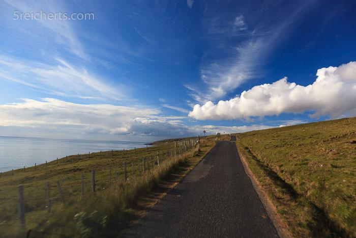 Der lange Weg zum Rua Rheid Lighthouse, Schottland
