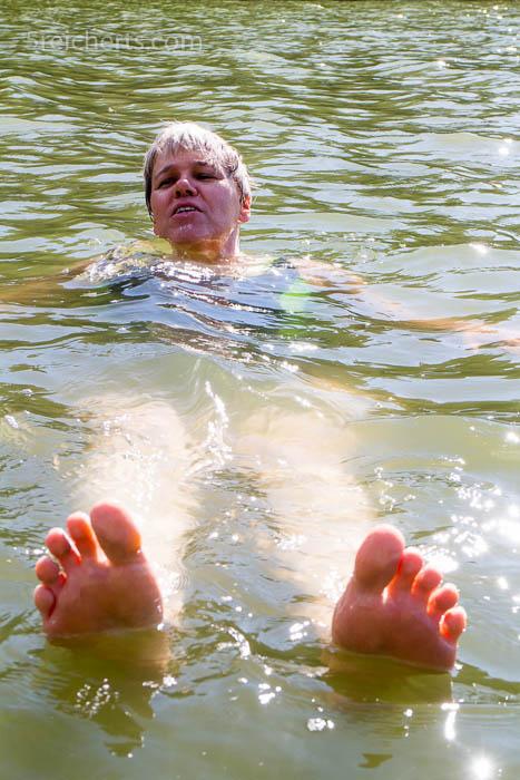 Gabi treibt in der Ostsee