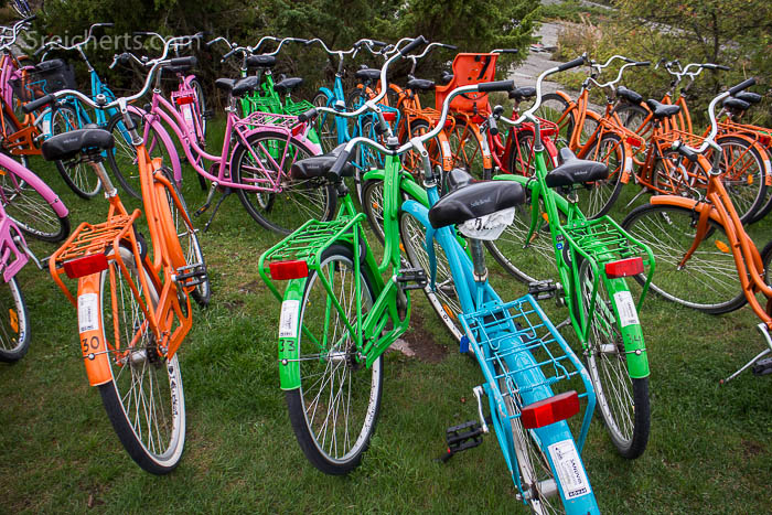 Fahrräder auf dem Campingplatz