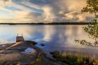 Gewitterwolken über den Aland Inseln