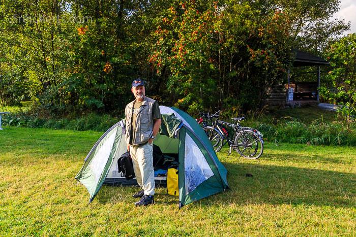Unser Zelt auf Föglö, Aland