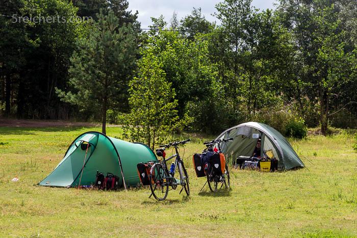 morgens auf dem Campingplatz