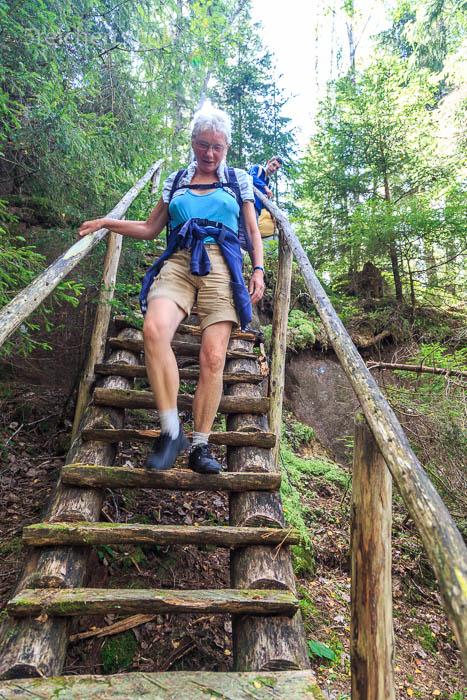 Die einzige Treppe auf der Wanderung