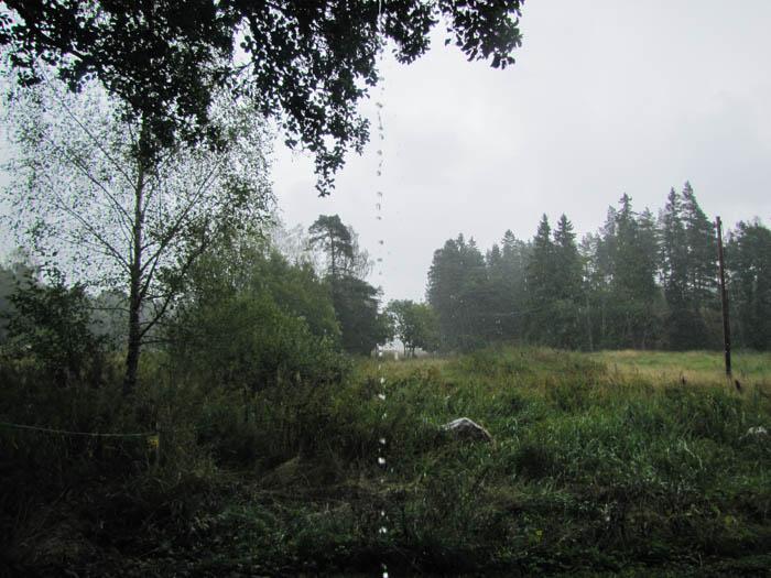 Da hat uns ein Regenschutt erwischt