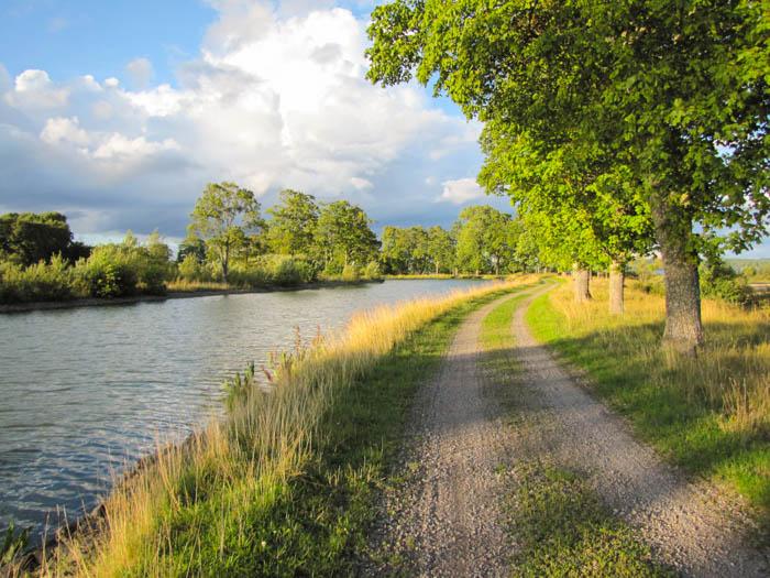 Der Radweg am Kanal war prächtig