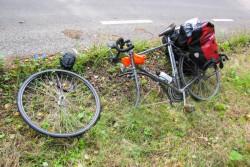 Fahrrad-OP. Der Patient ist außer Gefecht gesetzt.