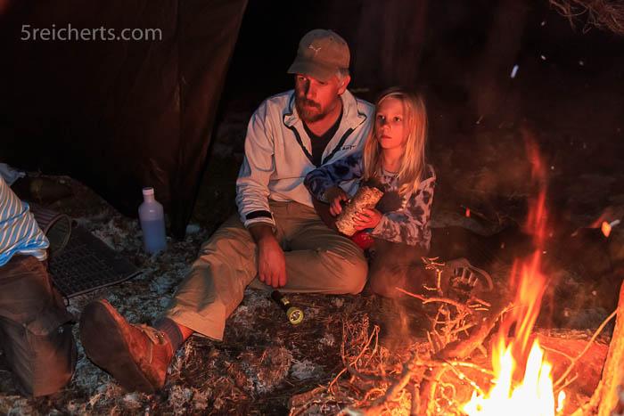 Stefan und Malva Abends im Wald