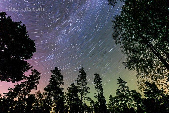 Selbst im Wald wunderschön, der Sternenhimmel
