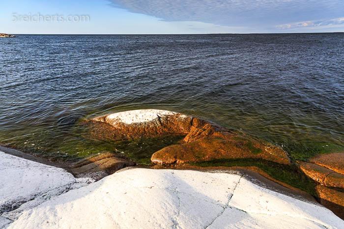 Salzkruste auf den Felsen, HavsVidden