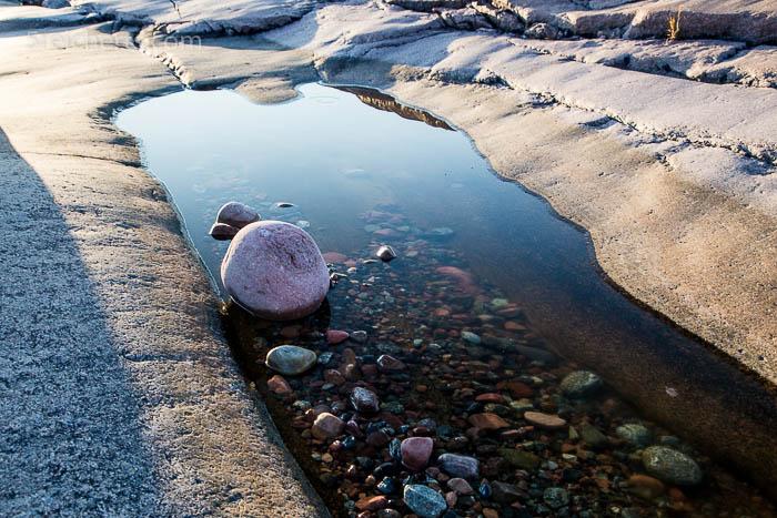 Steine und Felsplatten, Geta, Aland