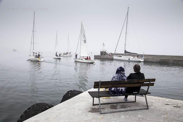 Morgens gehts im Nebel wieder Richtung Norrköping