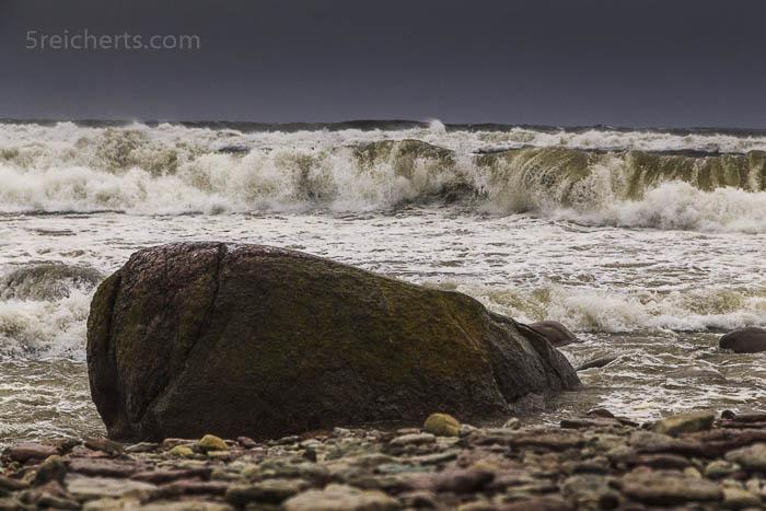 Plötzlich wurden die Wellen riesiggross