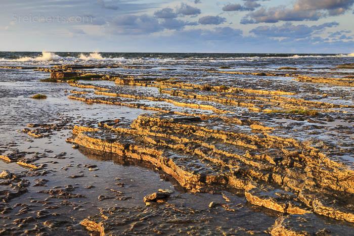 Felsen im Abendlicht, Öland