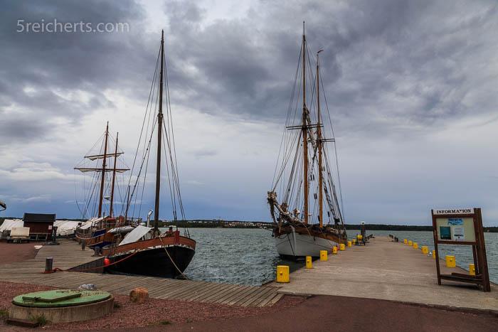 Im Hafen des Bootsbaumuseum Sjökvarteret, Mariehamn
