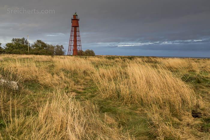 Der rote Leuchtturm bei Kappeludden