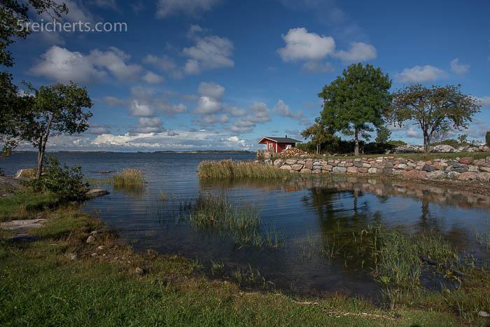 Kleine Bucht auf dem Campingplatz