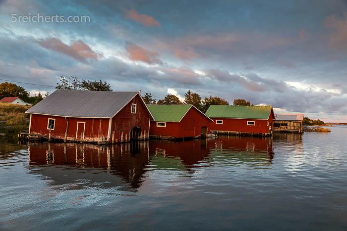 Bootshäuser von Jurmo