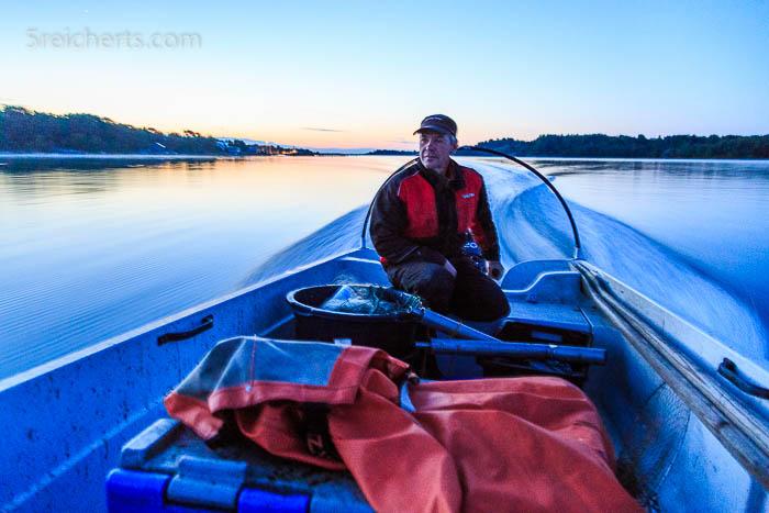 Nachts auf der Ostsee, unterwegs mit Kaj dem Fischer