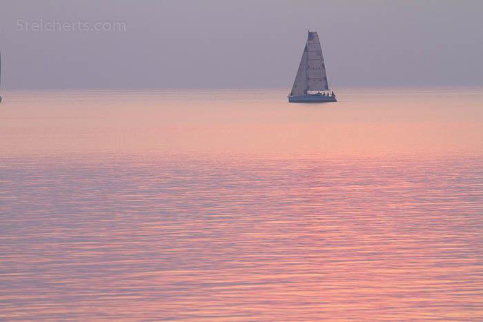 Segelboot in der Abenstimung