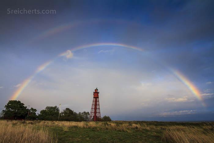 ein perfekter Regenbogen, was für ein Glück