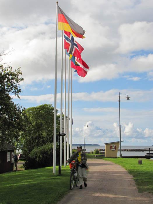 Hier endet der Göta-Kanal