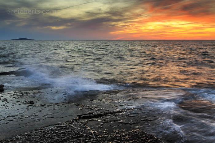 fast kitschiger Sonnenuntergang