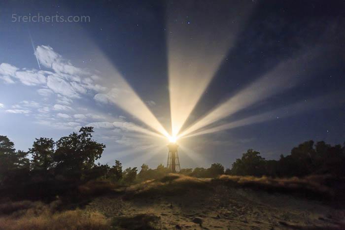 Sandhammaren Leuchtturm im Mondlicht