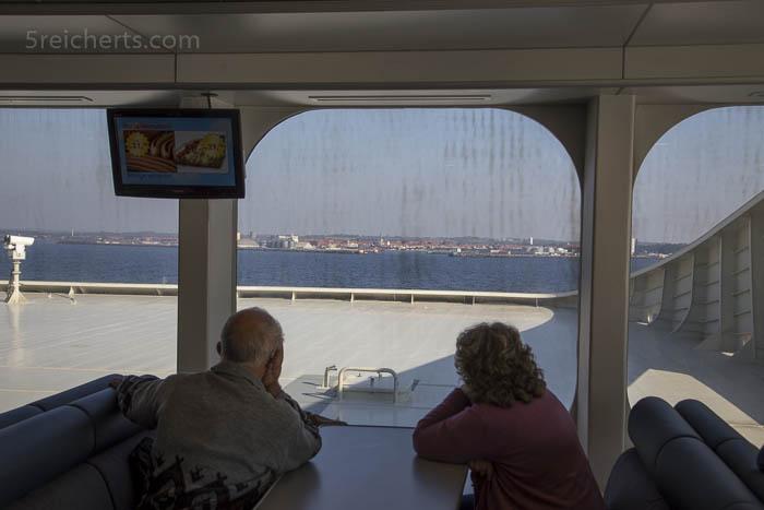 Aussicht auf den Hafen von Rønne