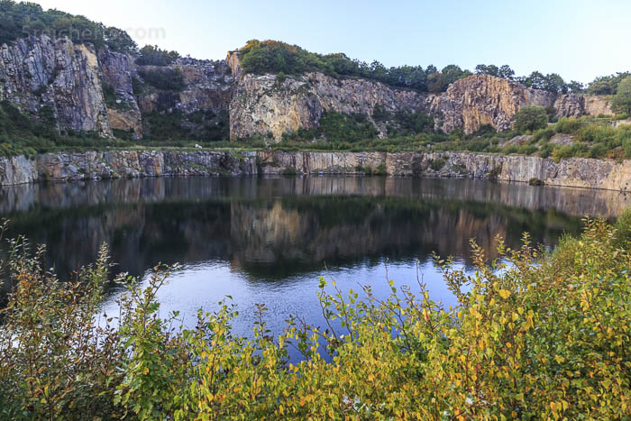 Einer der Seen im Steinbruch