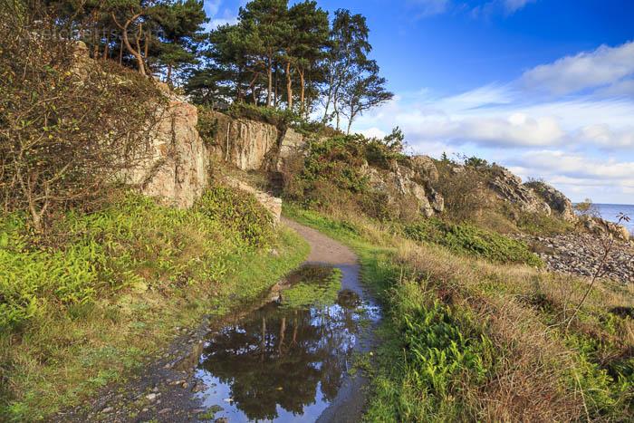 Auf dem Wanderpfad zwischen Sandkase und Allinge, Bornholm