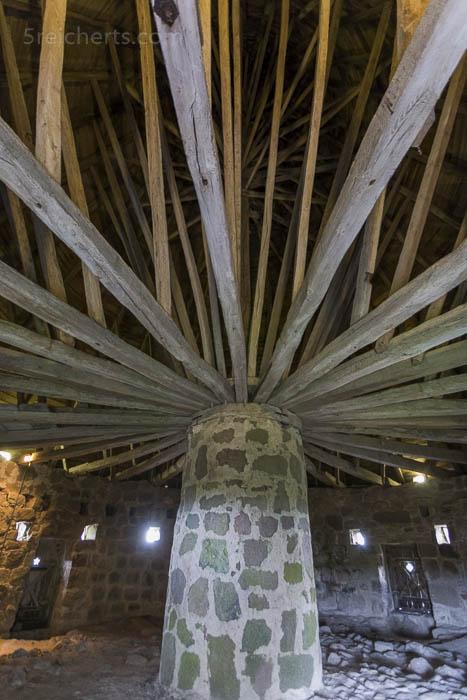 Das Dach der Runkirche von Innen