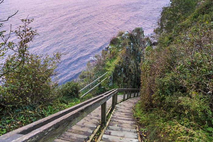 Die Treppen zu Jons Kapell