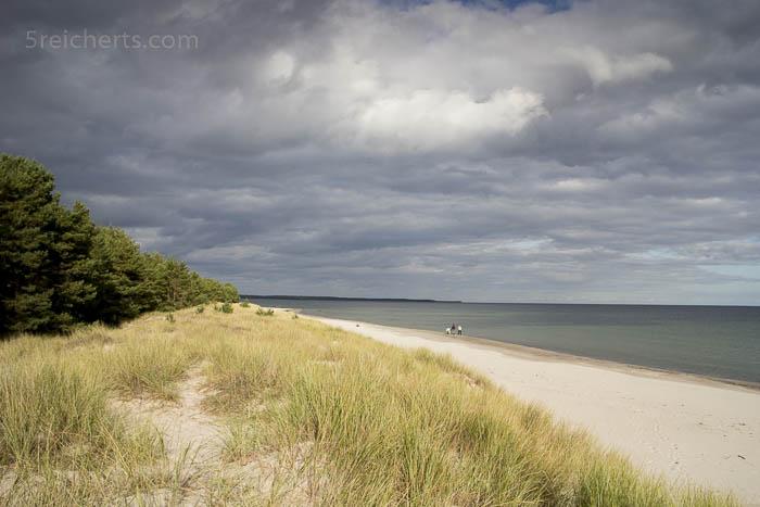 Der einsame Sandstrand