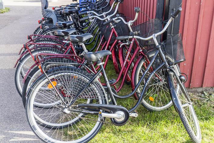 Ein paar seiner 200 Fahrräder