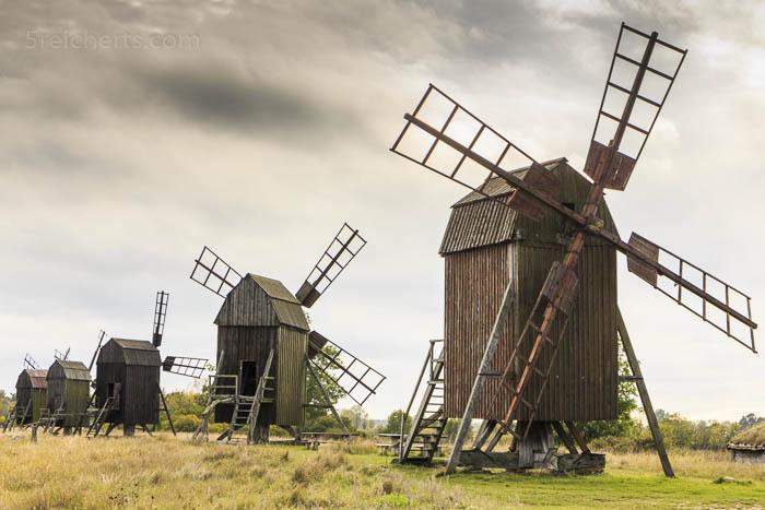 Die typischen Öland Windmühlen
