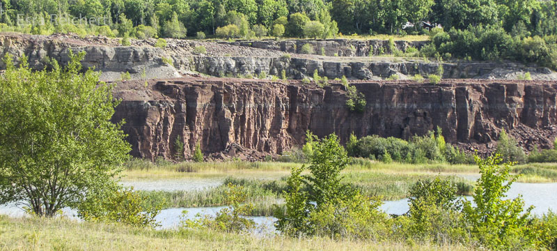 Der stillgelegte Steinbruch am Kinnekulle-Berg