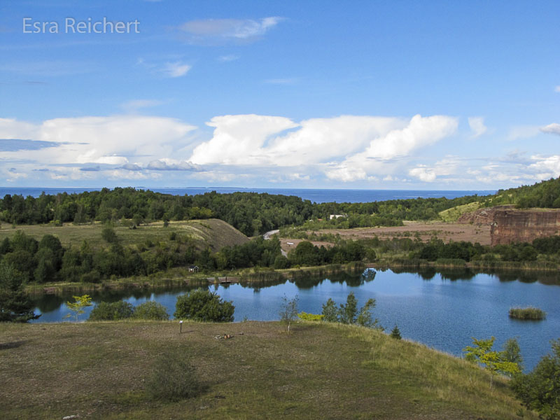 Die Aussicht vom Kinnekulle-Berg.