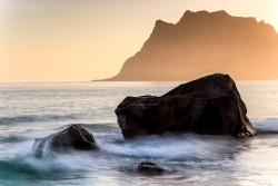 Die Möwe und der Fels, Utakleiv, Lofoten