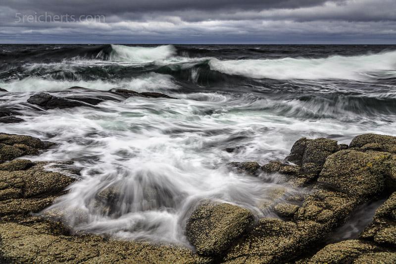 Es reicht schon recht wenig Wind um schöne Wellen zu erzeugen